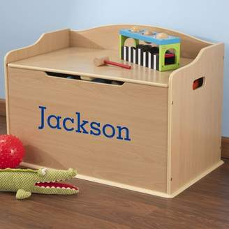 Kid Kraft Personalized Austin Natural Toy Box Font /