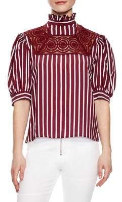 Sandro Raphaelle Striped Top