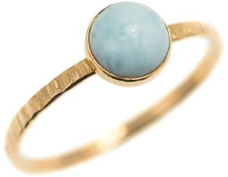 FEATHER+STONE - Gold Larimar Ring
