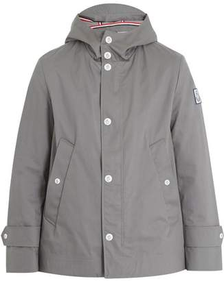 Moncler Gamme Bleu Hooded Cotton Raincoat - Mens - Grey
