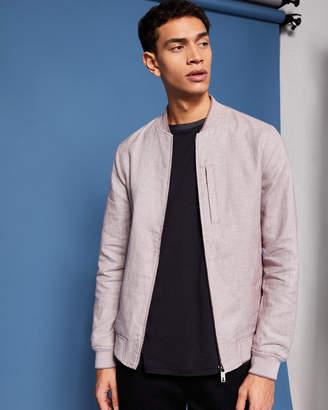 Ted Baker RANEY Linen-blend bomber jacket
