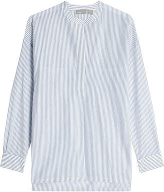 Vince Striped Cotton Tunic