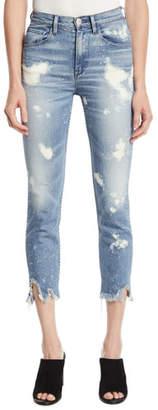3x1 W4 Colette Slim Crop Bleached Jeans
