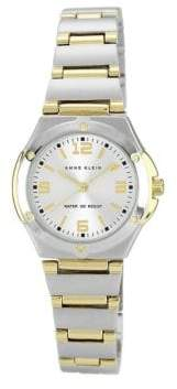 Anne Klein Two Tone Matte And Shiny Round Watch