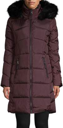 Calvin Klein Faux Fur-Trim Hood Parka Jacket