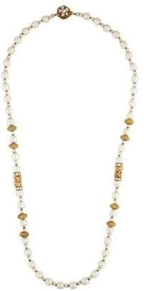 Miriam Haskell Crystal & Pearl Necklace