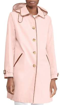 Ralph Lauren Hooded Balmacaan Trench Coat