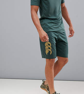 Canterbury of New Zealand Vapodri Stretch Knit Shorts In Khaki Exclusive To ASOS