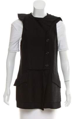Proenza Schouler Raw-Edge Button-Up Vest