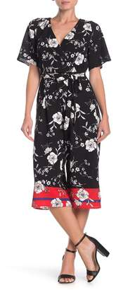 Rowa ROW A Floral Cropped Jumpsuit
