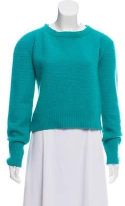 The Elder Statesman Long Sleeve Cashmere Sweater