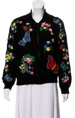 Alice + Olivia Embellished and Beaded Bomber