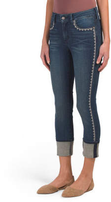 Petite Alina Wide Cuff Ankle Jeans