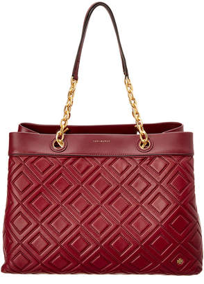 Tory Burch Fleming Leather Triple-Compartment Tote