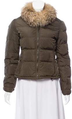 Prada Fur-Trimmed Down Jacket
