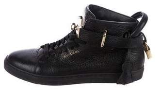 Buscemi 125MM Embellished Pebbled Leather Sneakers