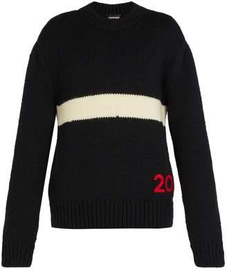 Calvin Klein Logo-embroidered wool sweater