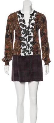 A.L.C. Silk Paisley Dress