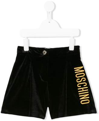 Moschino Kids logo embroidered shorts