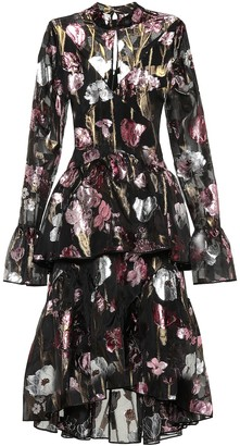 Erdem Bronte floral silk-blend midi dress