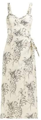 Zimmermann Wayfarer Pineapple Linen Dress - Womens - White Print