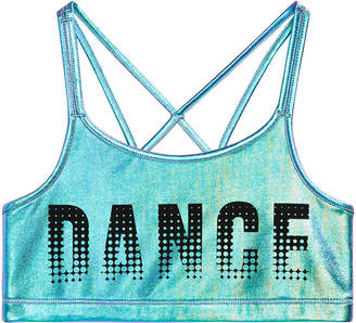 Macy's Ideology Graphic-Print Strappy-Back Sports Bra, Big Girls, Created for