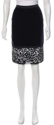 Dolce & Gabbana Sequin Embellished Velvet Skirt w/ Tags