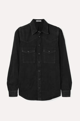 Givenchy Embroidered Denim Shirt - Black