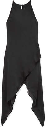 Gareth Pugh Draped Silk-chiffon Top - Black