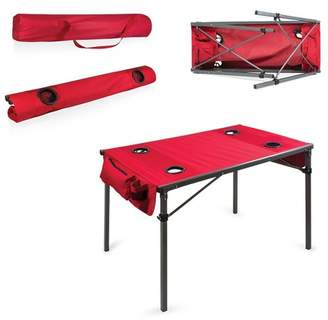 Picnic Time Canvas Travel Table - Red