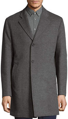 Saks Fifth Avenue Double-Faced Wool And Cashmere Single Breasted Top Coat