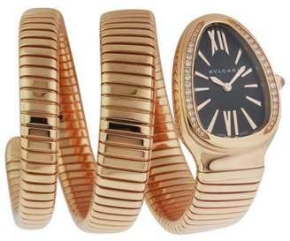 Bulgari Serpenti SPP35BGDG-2T 18Kt Diamond Pink Gold Watch
