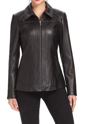 Alishbah Women's Stylish Lambskin Genuine Leather Jacket WJ99