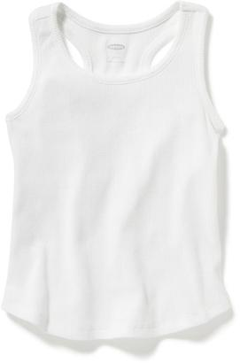 Rib-Knit Racerback Tank for Toddler Girls $8.94 thestylecure.com