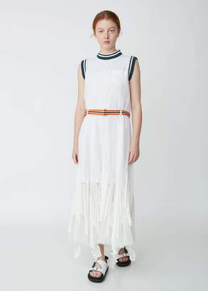 Sacai Lace x Tulle Sleeveless Dress