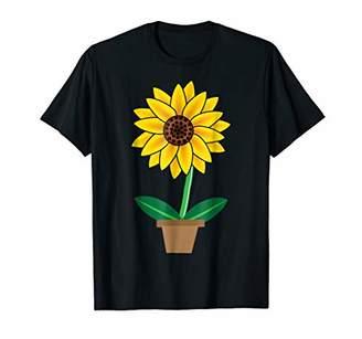 Sunny Sun Sunflower Blossom Flower Pot Costume T-Shirt