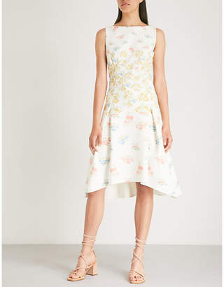 Peter Pilotto Stamp crepe dress