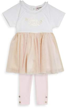 Juicy Couture Girl's Two-Piece Dress and Leggings Set