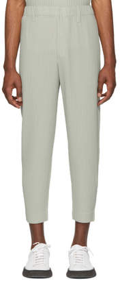Issey Miyake Homme Plisse Grey Tailored Cropped Trousers