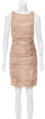 Alice + Olivia Ruched Silk-Blend Dress