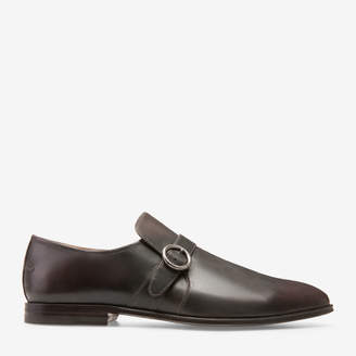 Bally Wes Brown, Men's kid leather loafer in coffee