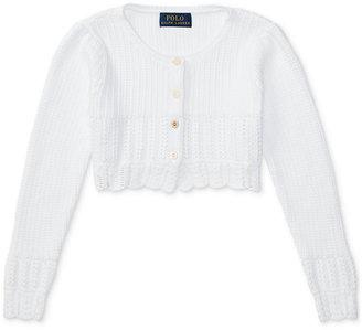 Ralph Lauren Cotton Shrug Sweater, Toddler & Little Girls (2T-6X) $39.50 thestylecure.com