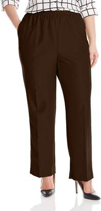 Alfred Dunner Womens Plus Average Pant