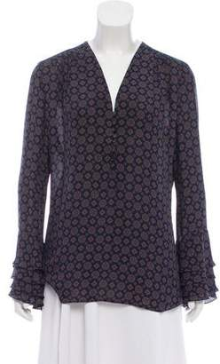 Michael Kors Printed Silk Top