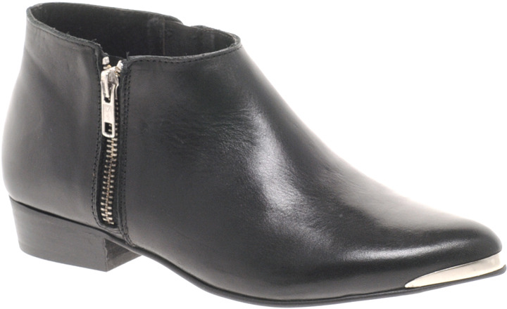 Bertie Proudlock Black Zip Ankle Boots