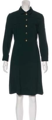 Louis Vuitton Long Sleeve Knee-Length Dress