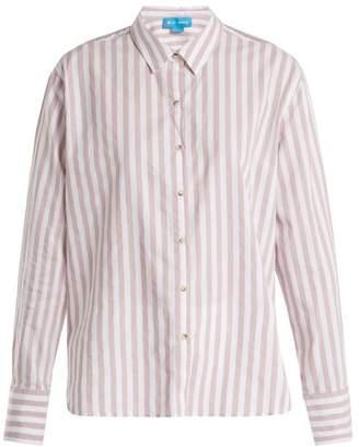 MiH Jeans Mini Striped Cotton Shirt - Womens - White Stripe