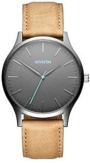 MVMT 40 Series Gunmetal Sandstone Leather Watch