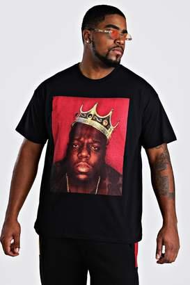 Big and Tall Biggie Crown License T-Shirt