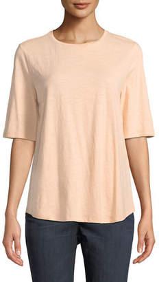 Eileen Fisher Organic Cotton Slub Top, Petite